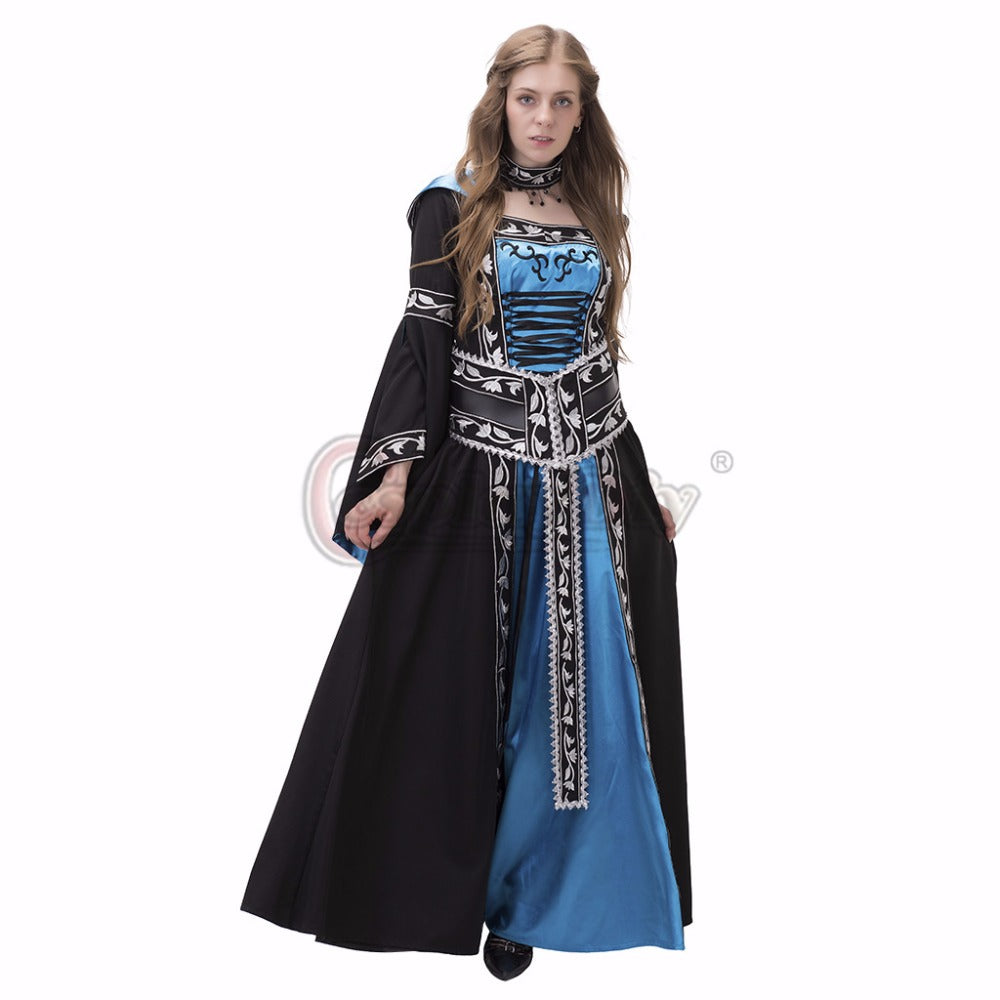 Custom Made Medieval Renaissance Hooded Dress Ball Gown Cosplay ...