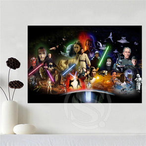 Custom Canvas Poster Art Star Wars Decoration Poster Print Silk Fabric - Cosplay Infinity