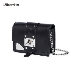 DIINOVIVO Rock Style Rivet Women Shoulder Bag Chain Punk - Cosplay Infinity