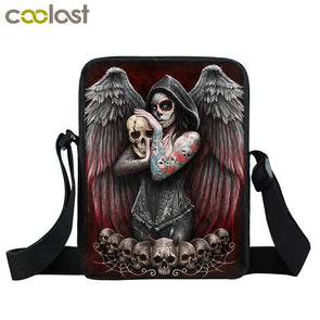 Gothic Angel Skull Mini Messenger Bag Girls Ladies Shoulder Bags - Cosplay Infinity