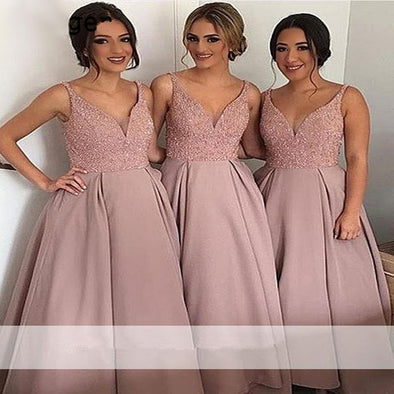 Elegant Bridesmaid Dresses A-Line Sweetheart Lace Pearls Long Wedding Party Dresses Any Size Custom - Cosplay Infinity