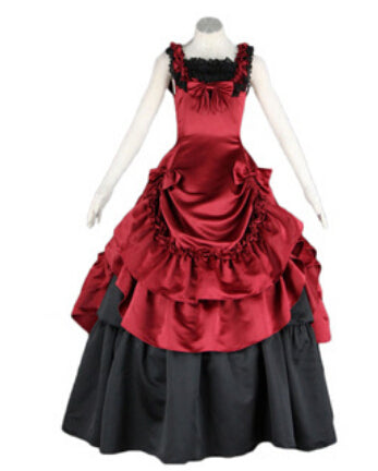 41b60c65b7 FREE SHIPPING Halloween Victorian Gothic Lolita Dress Cosplay Long Tiered  Layered Women Skirt Any Size customized