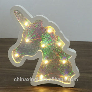 Festive  Novelty Marquee Unicorn 3d LED Night Light Kids Bedroom - Cosplay Infinity