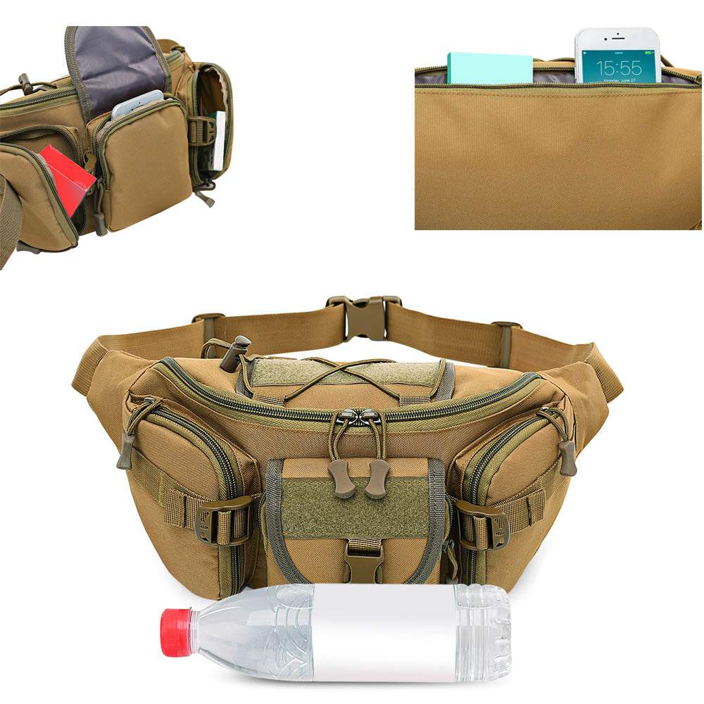 4fe5938343a7 Free Knight 3-5L Waterproof Tactical Waist Bag Molle Bag Unisex Fanny Pack  Fishing Climbing Hunting Outdoor Sports Belt Bag
