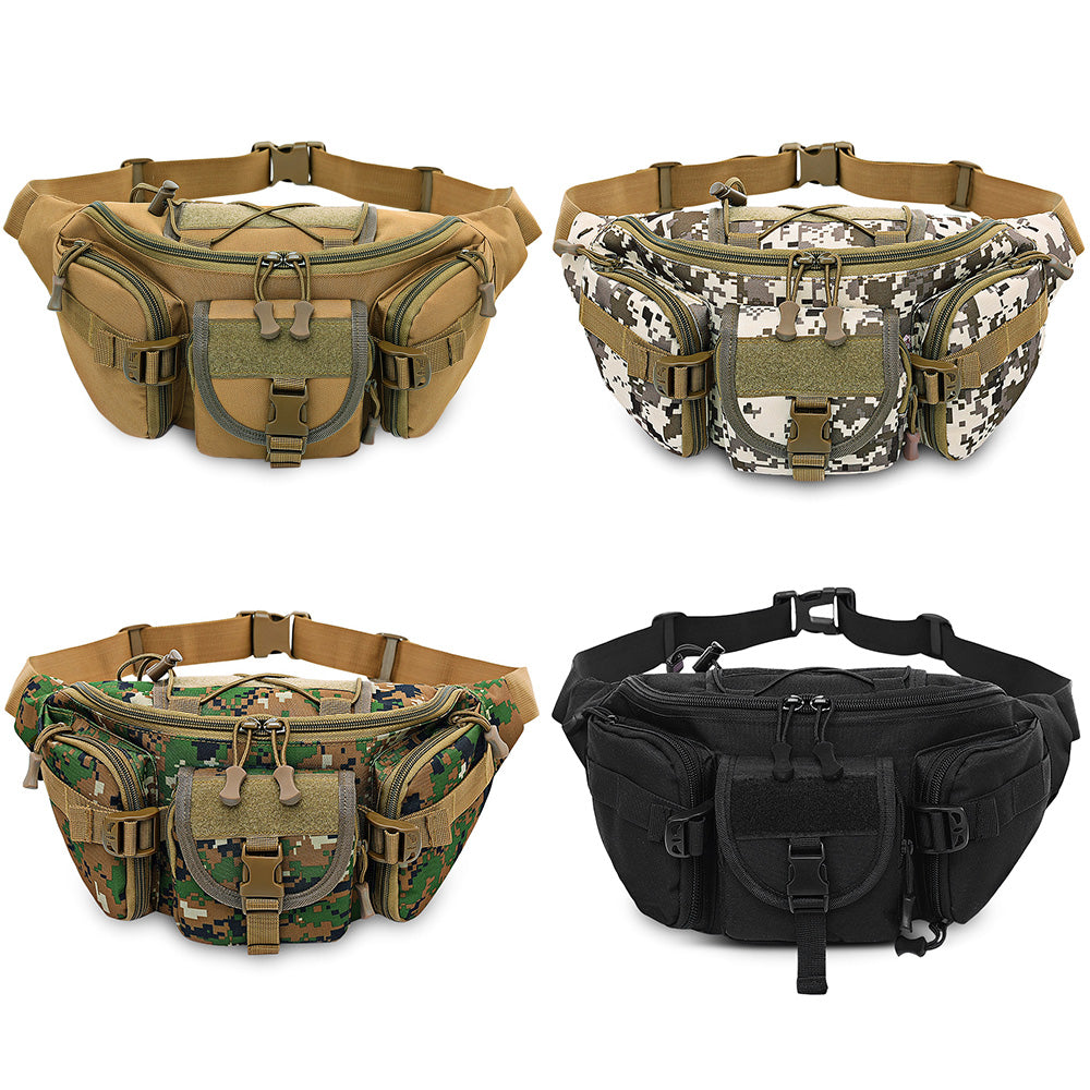 d5d578fd3d37 Free Knight Tactical Molle Bag Waterproof Waist Fanny Pack Hiking Fishing  Sports Hunting Waist Bags Camping Sport Bag Belt