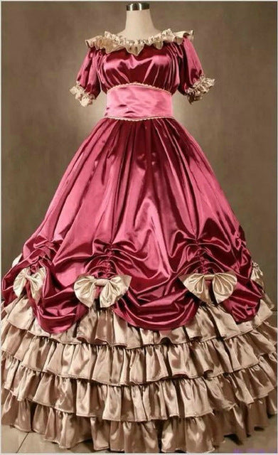 Medieval Wedding Costumes Southern Victorian Ball Gown Gothic Plus Size  Custom Made