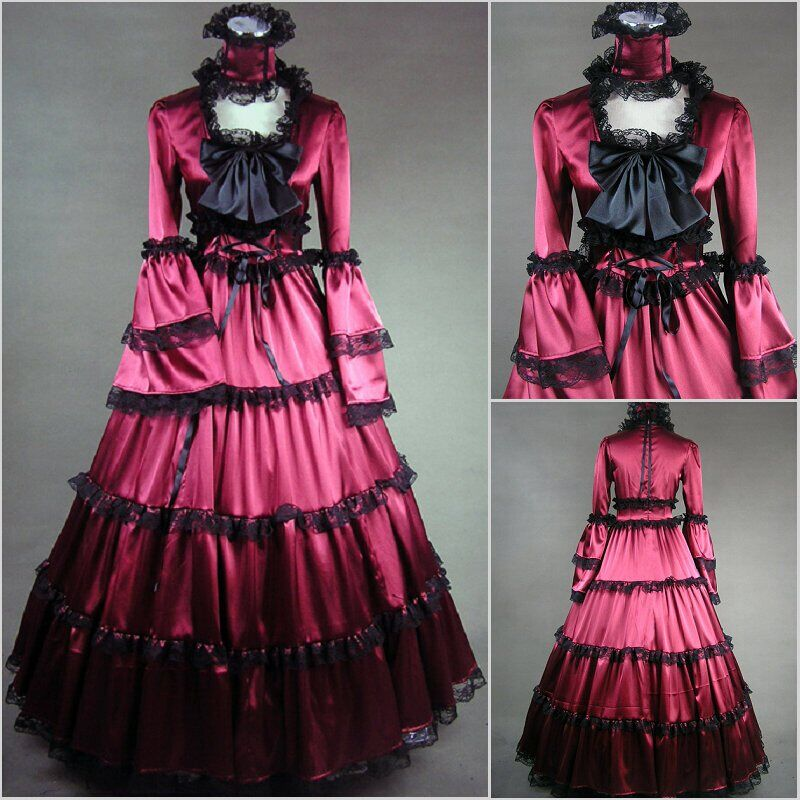 Medieval Wedding Costumes Southern Victorian Ball Gown Gothic Plus ...
