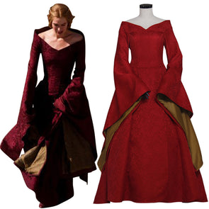 f54671bc3b8568 Game of Thrones Cosplay Cersei Lannister Costume Red Dress Medieval  Renaissance - Cosplay Infinity
