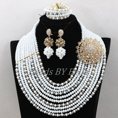 Gorgeous Pearl Beads Necklace Costume Women Fashion Jewelry
