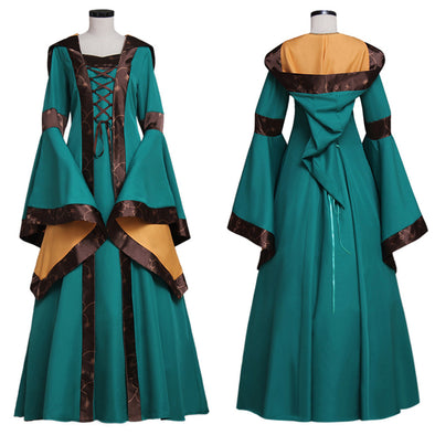 552c1509a79e0f Custom Green Medieval Renaissance Victorian Dress Gown Fantasy Cosplay  Costume - Cosplay Infinity