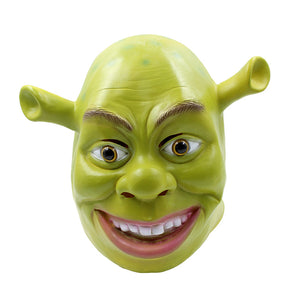 Green Shrek Latex Masks Movie Cosplay Prop - Cosplay Infinity