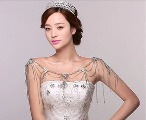 Romantic Luxury Crystal Wedding Bridal Chain Necklace - Cosplay Infinity