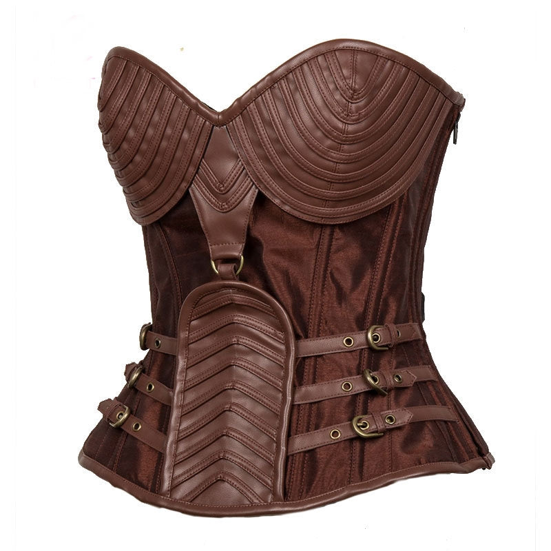 a197fab285 Brown Armor Corset Sexy Gothic Corsets And Bustiers Steampunk Clothing –  Cosplay Infinity