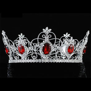 Red Crystal King / Queen Crown Full Circle