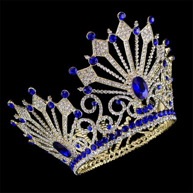 High Quality Bride Tiaras Hair Crown Full Crystal Rhinestone - Cosplay Infinity