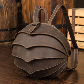 High-Quality Genuine Leather Backpack Fashion Men Women Crazy Horse Leather - Cosplay Infinity