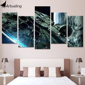 Millennium Falcon Star Wars Painting Canvas Print Room Decor Picture - Cosplay Infinity