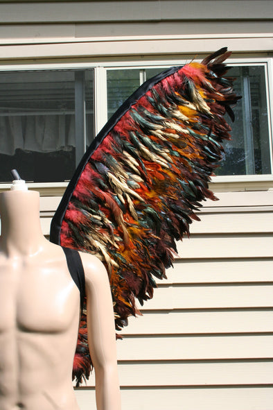 Custom Made Brown Gold Men Angel Feather Wings - Cosplay Infinity