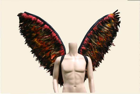 Custom Made Brown Gold Men Angel Feather Wings