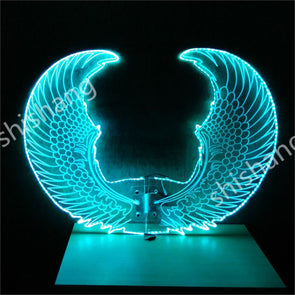 Colorful LED Luminous Glowing Butterfly Wings Cosplay Dance Rechargeable