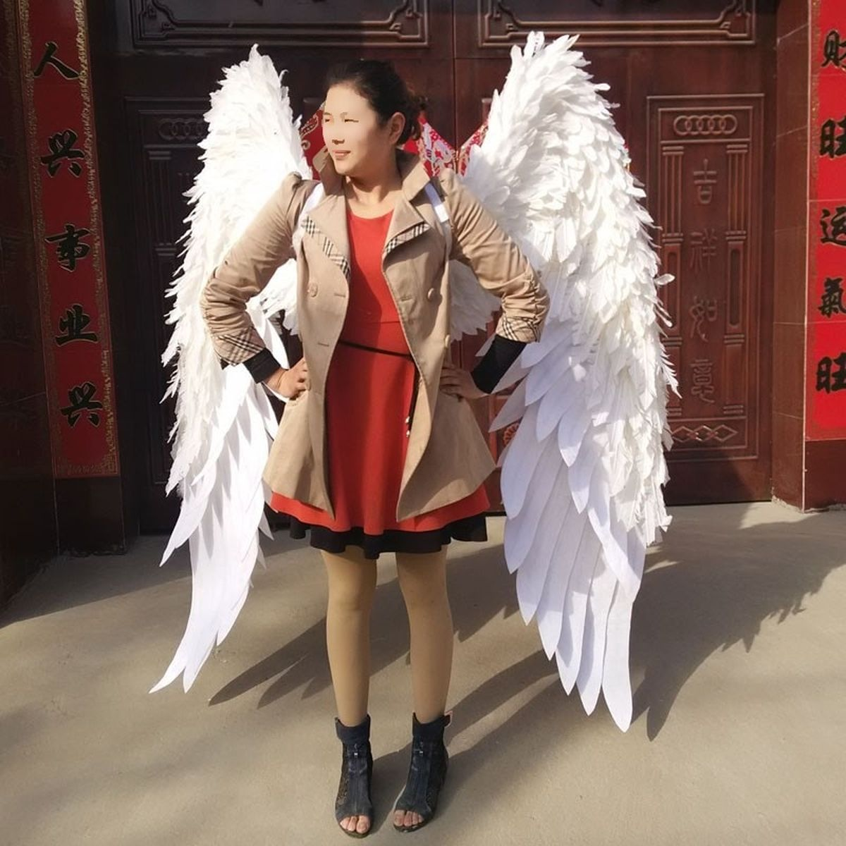 White Feather Angel Wings Cosplay Wedding Costumes Cosplay Infinity