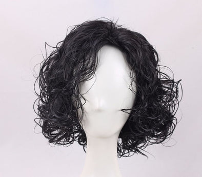 Game of Thrones Cosplay Wig Jon Snow Men Black Curly Short Synthetic Hair Adult - Cosplay Infinity