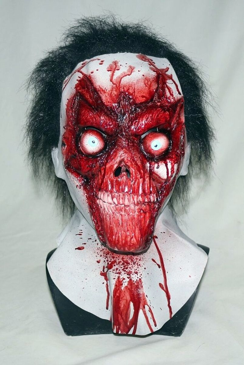 scary zombie mask rubber latex halloween costume cosplay