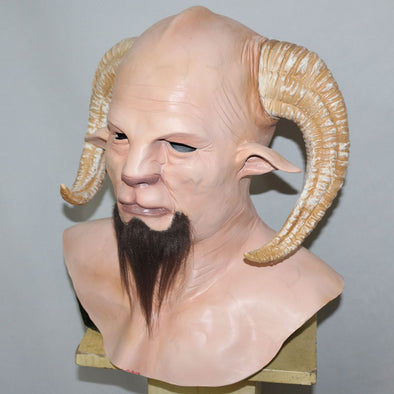 Halloween Monster Krampus Scary Adult Latex Horror Mask Full Head Vampire Cosplay - Cosplay Infinity