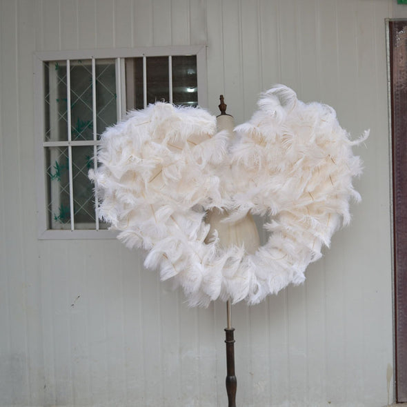 Amazing White Angel Ostrich Feather Wings for Cosplay Photography Game Stage - Cosplay Infinity