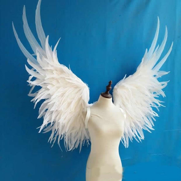 Adult Luxury White Angel Wings Cosplay Party Wedding Grand Event - Cosplay Infinity