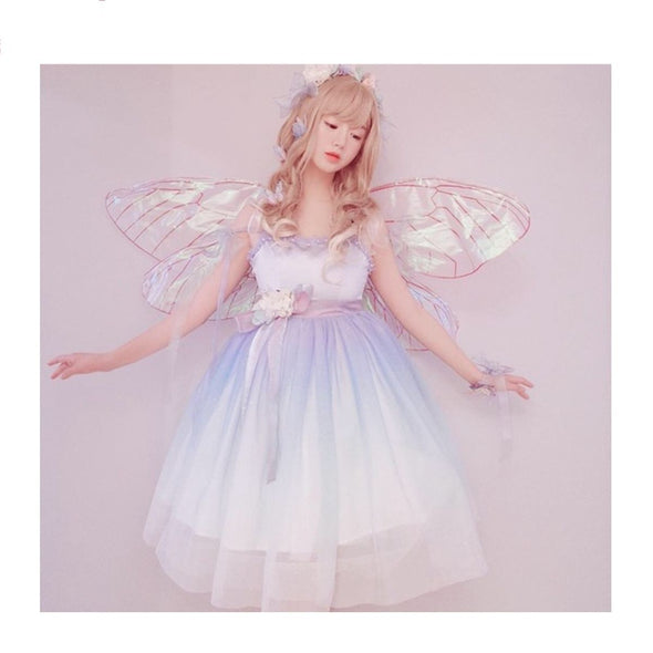 Angel Butterfly Wings Halloween Cosplay Costumes For Elf Fairy Women Girl - Cosplay Infinity