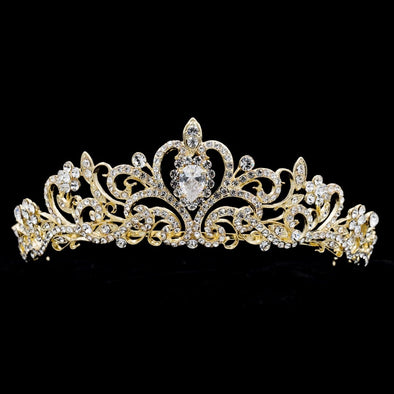 Austrian Crystals Tiara Princess Queen Crown Bridal Wedding Cosplay Hair Jewelry - Cosplay Infinity