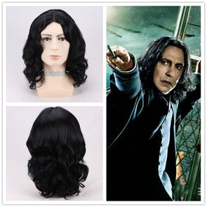 Harry Potter Severus Snape Black Wig Cosplay Professor Halloween Role Play Harry - Cosplay Infinity