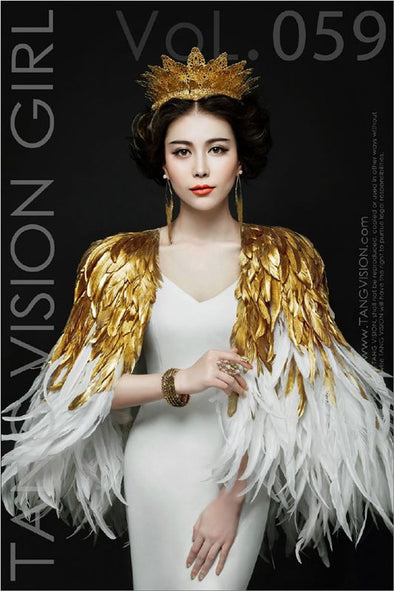 High Quality Fashion Feather Cloak Party Cosplay Wedding Sexy Cloaks