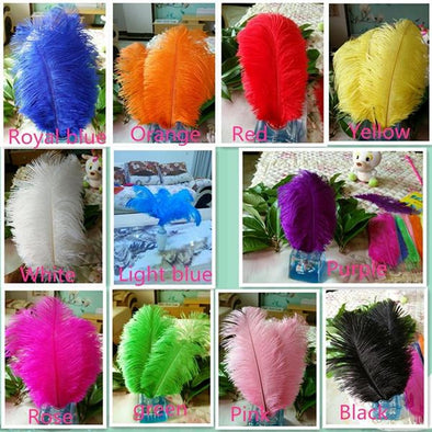 "new! 50pcs high quality ostrich feathers, 8-10""/ 20-25cm DIY wedding cosplay wings headdress - Cosplay Infinity"