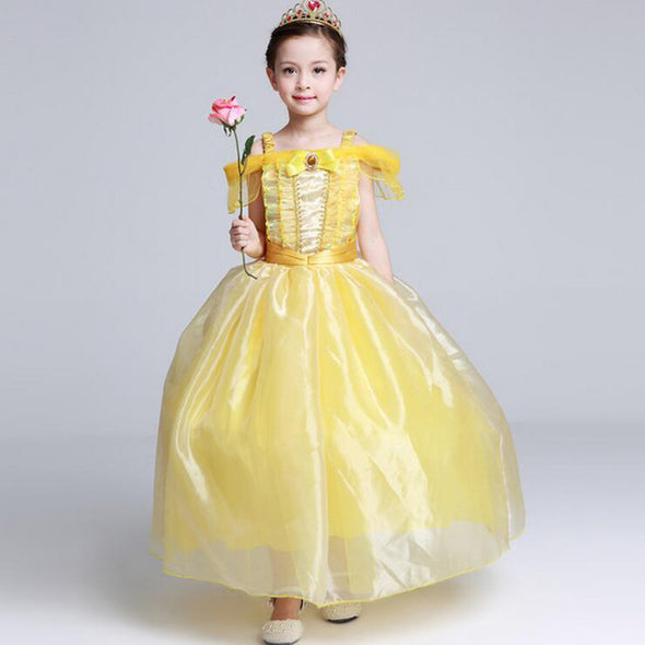 SAMGAMI Girls Princess Dress Carnival Costume Ball Gown Flower Girl - Cosplay Infinity