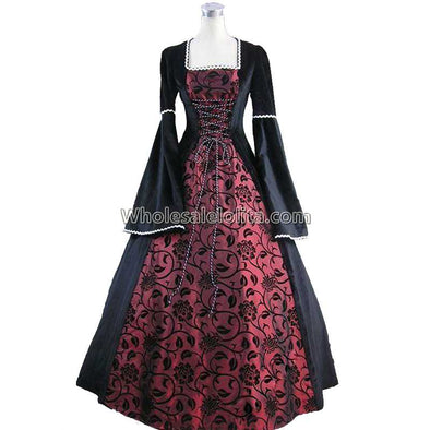 53e11c958c5a4f Medieval Renaissance Fair Queen Velvet Brocade Ball Gown Cosplay Plus Sizes  - Cosplay Infinity
