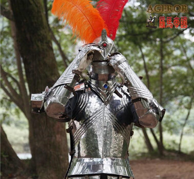 Medieval Armor Gothic Knight Suit Stainless Steel Armor Warrior Cosplay - Cosplay Infinity