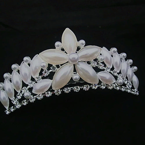 Wedding Hair Accessories Bridal Crown Tiara Jewelry Cosplay Renaissance Festival Pearl - Cosplay Infinity