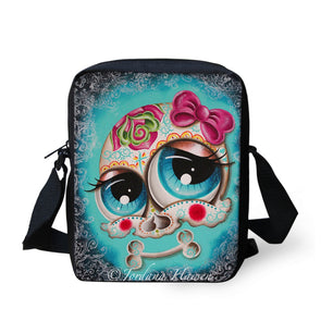 Personalized Messenger Bags for Women Handbag Cute Skull Head Print Children Crossbody Bags Punk Style Girls Gift Shoulder Bags - Cosplay Infinity