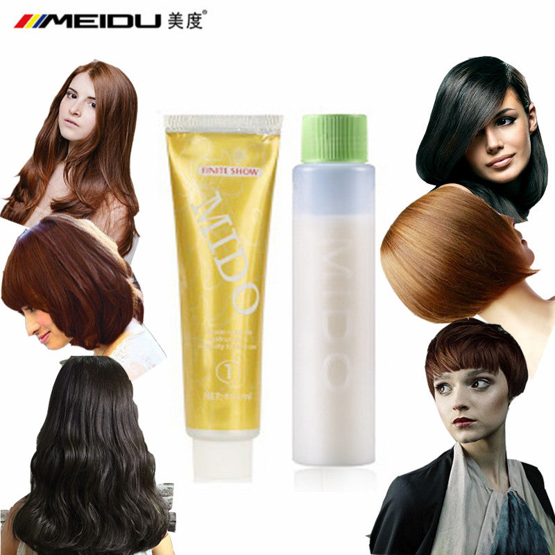 Professional Permanent Hair Dye Styling Color Cream No Ammonia Red