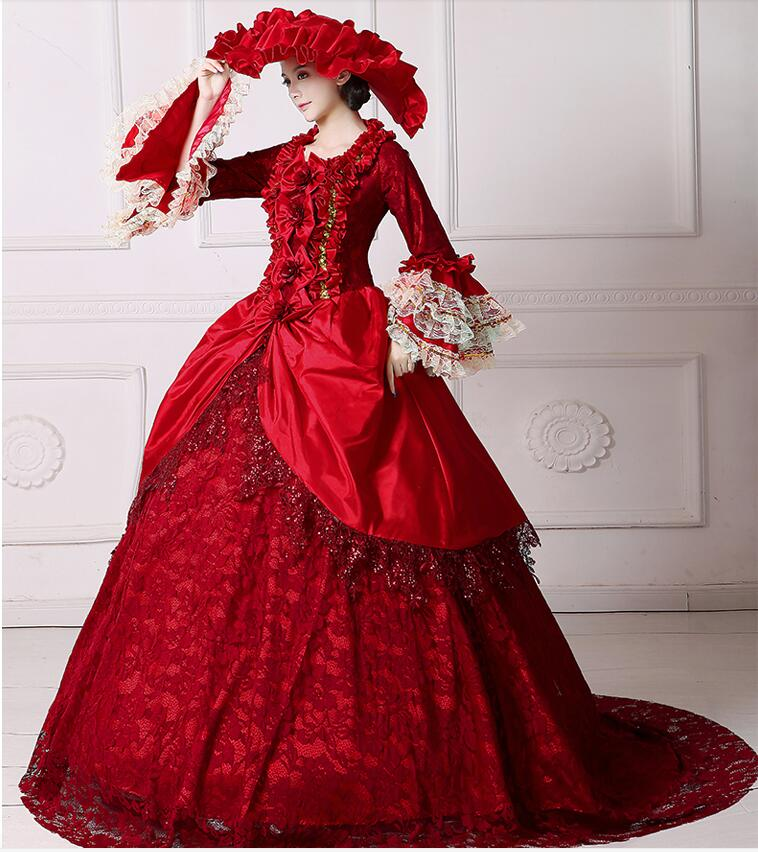 b4f7788f11b9c Romantic Renaissance Victorian Dresses Cosplay Costumes Ball Gowns Larger  Sizes