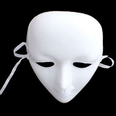 White Unpainted Mask Ball Party Costume Mask Full Face Masquerade - Cosplay Infinity