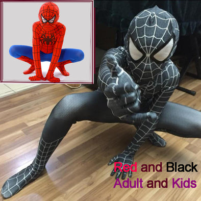 Spider-Man Black Venom Kids Superhero Lycra  Zentai Halloween Costume With Mask
