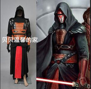 Star Wars Darth Revan Black Outfit Cape Cloak Cosplay Costume Custom Made - Cosplay Infinity