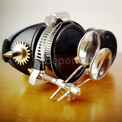 Steampunk Goggles Glasses Welding Cyber Punk Biker Gothic Rave Cosplay - Cosplay Infinity
