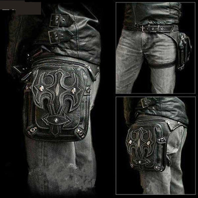 Steampunk Holster  Shoulder Backpack Men's Thigh Motor Leg Outlaw Pack - Cosplay Infinity