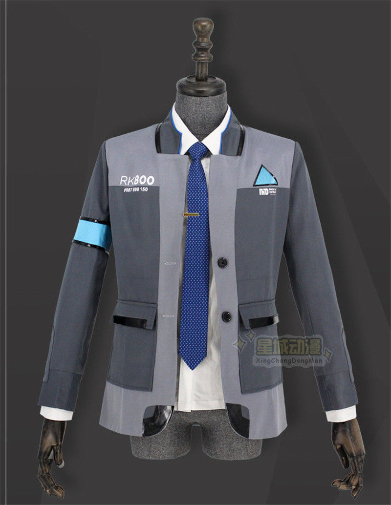 Detroit Become Human RK800 Connor Outfit Men Uniform Jacket Coat Cosplay Costume