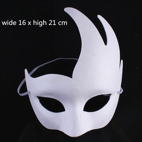 Lot 10 Unpainted Blank White Masquerade Party Half Mask - Cosplay Infinity