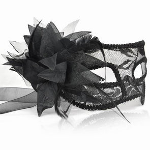 Venice Princess Mask Black Lace - Cosplay Infinity